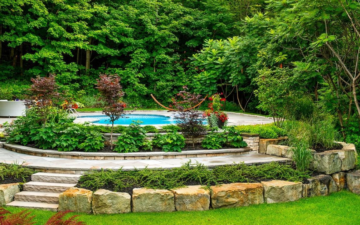 Darveau am nagement entretien paysager dominique for Club piscine rive sud montreal