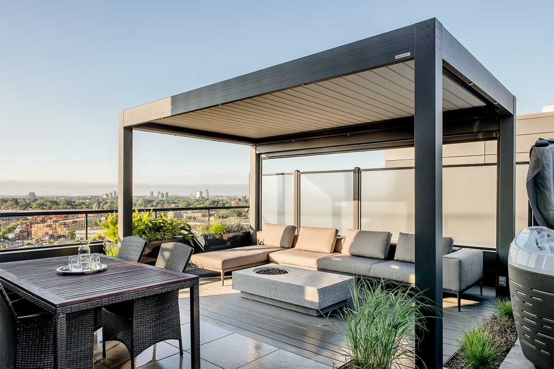 Roof terrace gazebo outdoor lounge